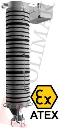 Atex sertifikası silobas yükleme şutu kamyon doldurma teleskopik yükleme boruları