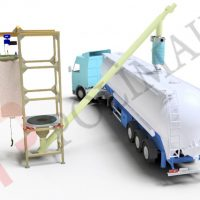 big bag unloading system and bulk tanker filling bellows