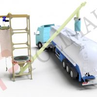 big bag unloading system and bulk tanker filling chutes
