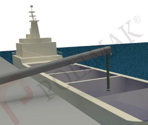 Bulk ship loading telescopic chute bulk solid handling loading discharging chutes