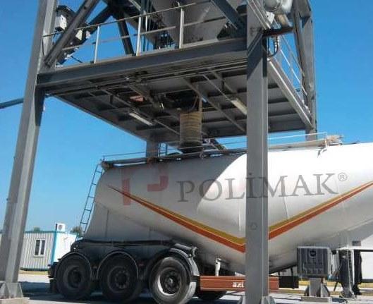Bulk tanker truck loading spout