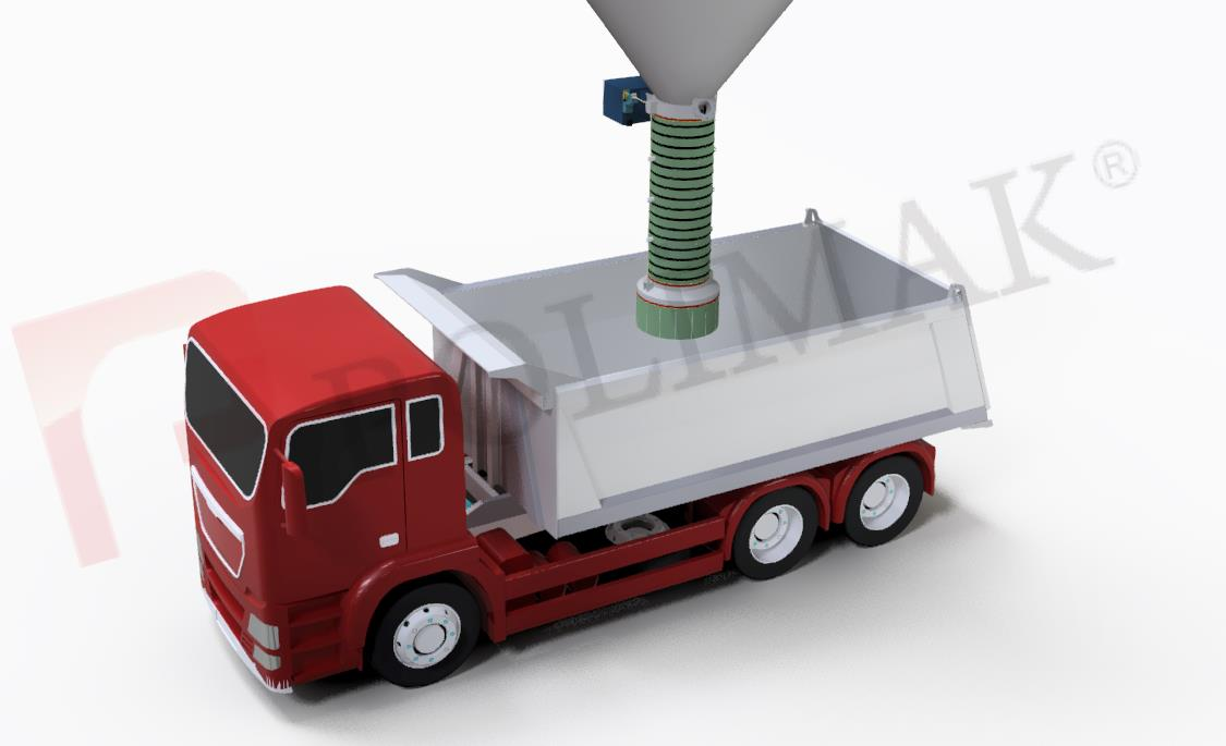 Kamyon yükleme körüğü toz malzeme teleskopik kamyon yükleme körükleri