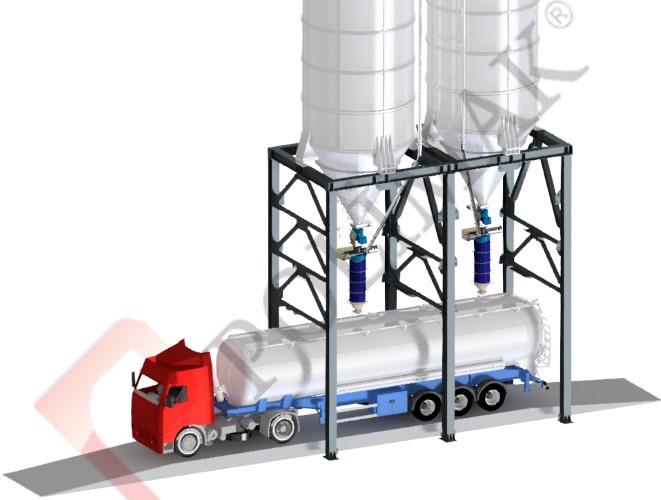 Kamyon silobas yükleme teleskopik dolum şutu körüğü kantarı kamyon tartım yükleme dolum sistemi