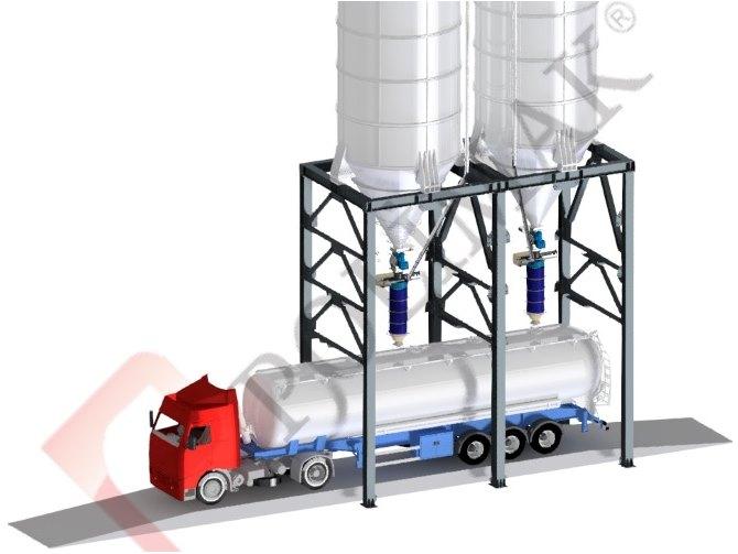 Kamyon silobas yükleme körüğü kantarı kamyon tartım yükleme dolum sistemi