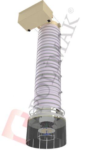 Kamyon ve silobas doldurma körüğü çift fonksiyonlu kombine dolum sistemi
