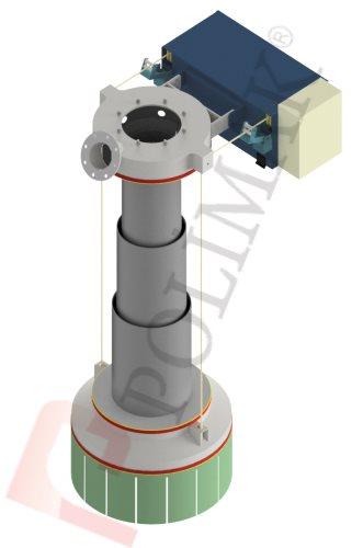 Klinker Zwischenbehälter Zement Schüttgut Verladegarnitur Teleskoprohr