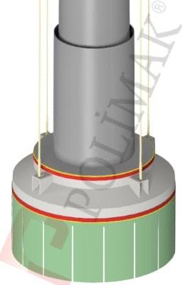 Halde Schiff Verladegarnitur Teleskoprohr Stahlseil