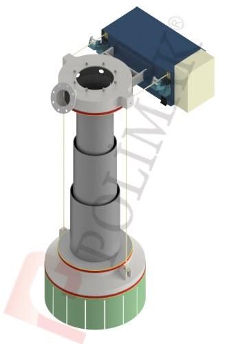 Telescopic chute loading spout pipe