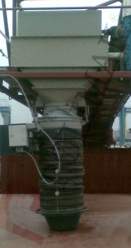 Loading spout airslide conveyor system bulk material filling
