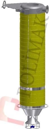 Kamyon silobas yüklemesi dolum borusu körükleri el kontrol vinç teleskopik toplama borusu