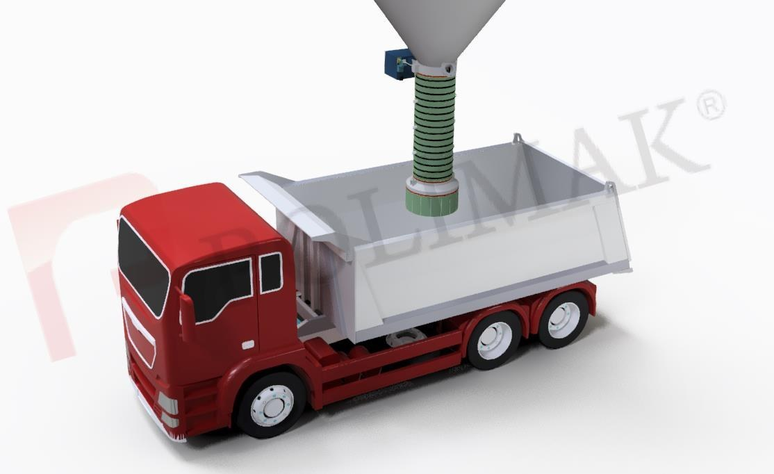 Open Truck Loading Telescopic Vhutes Bulk Solids Handling Truck Loading