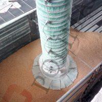 Bulk material loading bellows telescopic chutes