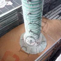 Bulk material loading spouts telescopic chutes