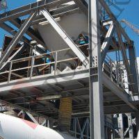 Çimento yükleme teleskopik şutu silobas dolum sistemi