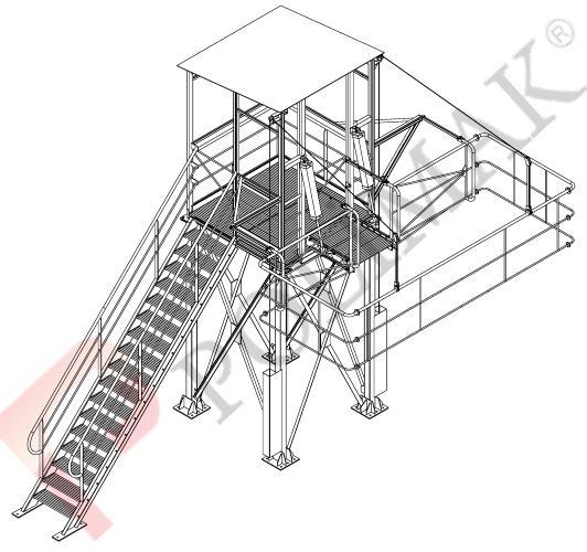 Kamyon erişim platformu silobas dolum körüğü kapak açma platform