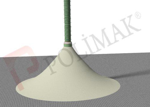 Stok sahası depolama alanı çimento deposu yükleme körüğü