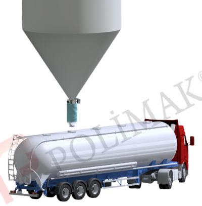 Tanker loading bellow telescopic chutes loading spouts