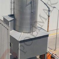 Bulk solids silo discharging tanker truck loading system bulk loading telescopic chute