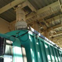 Telescopic spouts for open truck loading bulk material handling