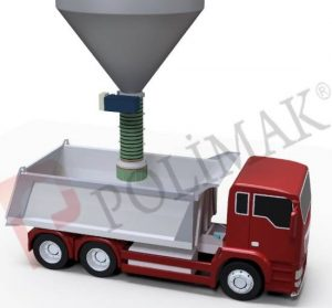Open truck loading spout dustless telescopic loading of trucks
