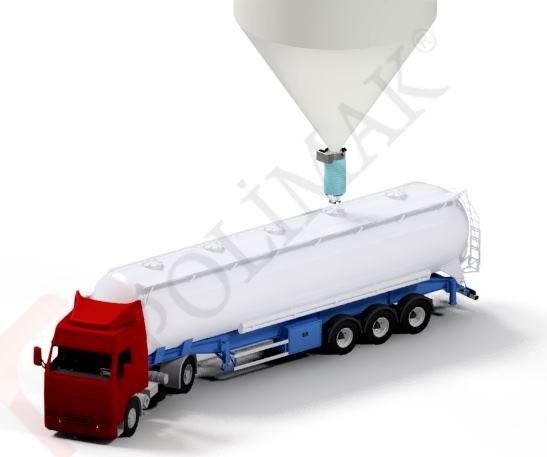 Tanker Loading Bellows Telescopic bulk tanker loading spout