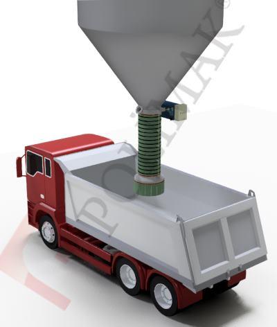 Teleskopik kamyon yükleme körükleri hammadde yüklenmesi