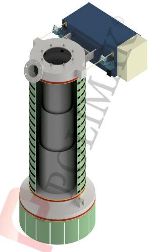 Teleskoprohr Verladegarnitur Klinker Beladung